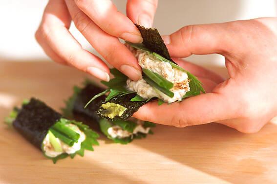 リコッタ豆腐の海苔巻きの作り方の手順2
