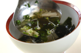 エノキとワカメのスープの作り方2