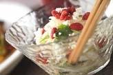 白菜と梨の和え物