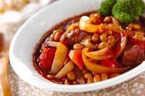 豚肉と豆のシチュー
