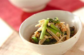 小松菜レンジ煮