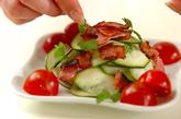 ズッキーニとベーコンのサラダの作り方2