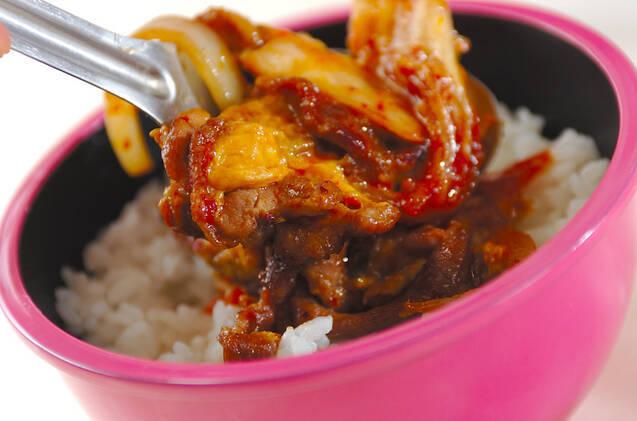 豚のキム卵丼の作り方の手順4