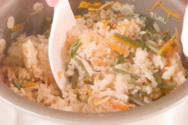 山菜炊きおこわの作り方の手順7