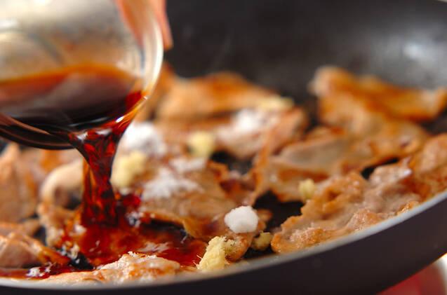 ショウガ焼き丼の作り方の手順4
