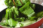 しろ菜のゴマ和えの作り方2