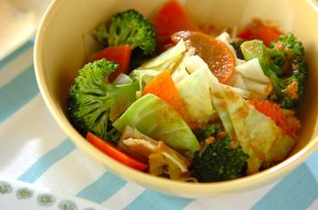 レンジ野菜のサラダ
