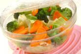 レンジ野菜のサラダの作り方1