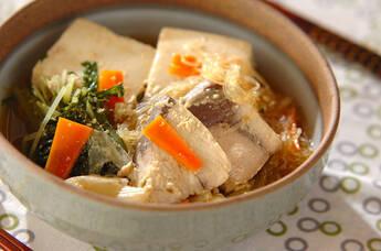 ブリと豆腐の豆乳煮