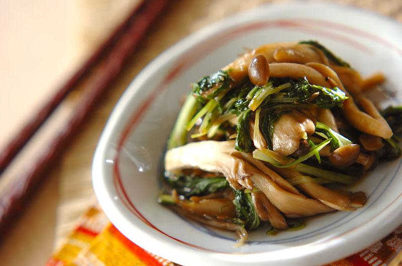 2. 青菜のオイスター炒め