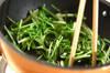 青菜のオイスター炒めの作り方の手順3