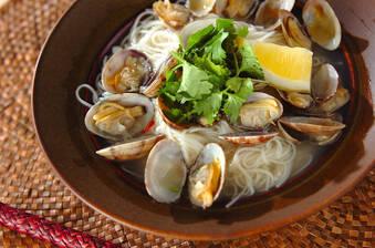 アサリのエスニック素麺