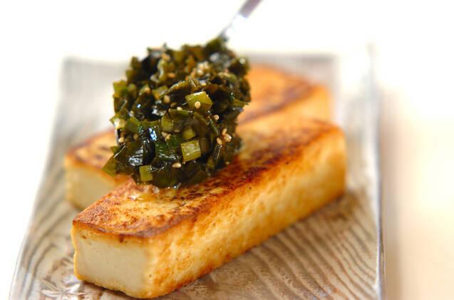 豆腐ステーキのニラソースの作り方の手順4