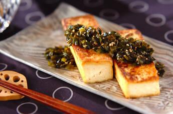 豆腐ステーキのニラソース