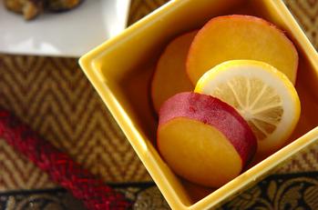 サツマイモのハニーレモン煮