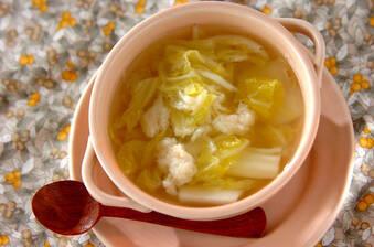 ホタテとトロトロ白菜のシンプルスープ
