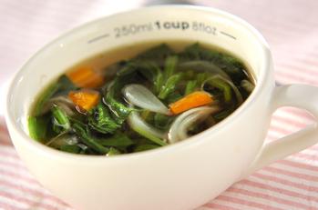 ホウレン草のコンソメスープ
