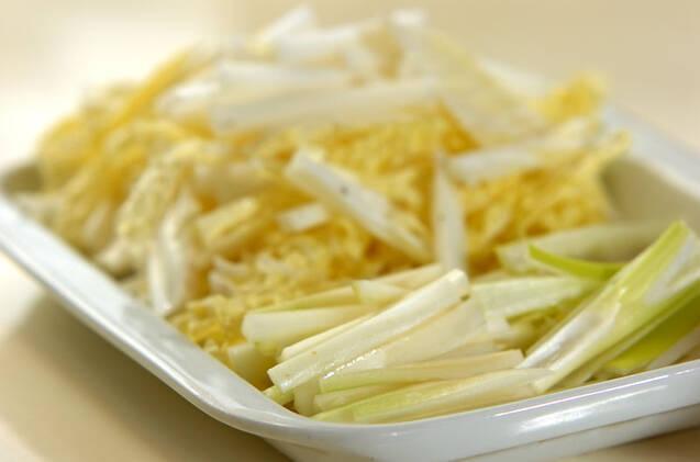 白菜のピリ辛甘酢炒めの作り方の手順1