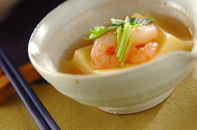 卵豆腐のエビあんかけの画像
