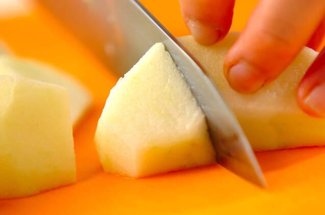 カラメルリンゴのせヨーグルトの作り方の手順1