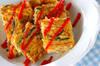 ゴーヤ素麺オムレツの作り方の手順