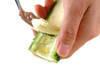 ゴーヤ素麺オムレツの作り方の手順1
