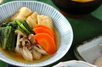 青菜と油揚げのサッと煮