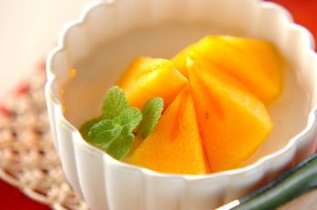 柿のせ杏仁豆腐