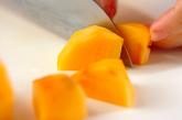 柿のせ杏仁豆腐の下準備2