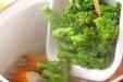 ゴボ天と菜の花の煮物の作り方の手順4