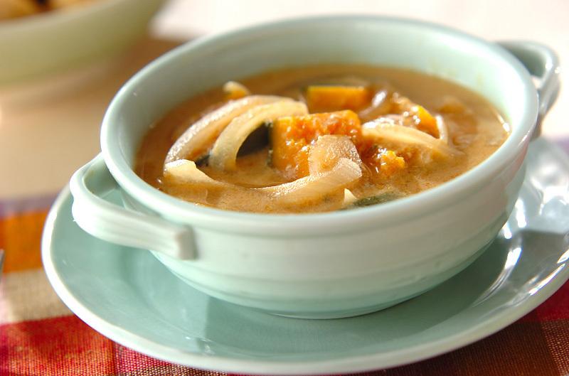 かぼちゃの豆乳みそスープ