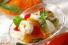 モッツァレラサラダの作り方の手順