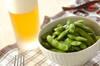 ゆで枝豆+ビール