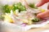 昆布〆鯛のカルパッチョの作り方の手順7