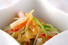 クラゲの酢の物の作り方の手順