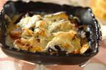 カボチャとソーセージのチーズ焼き