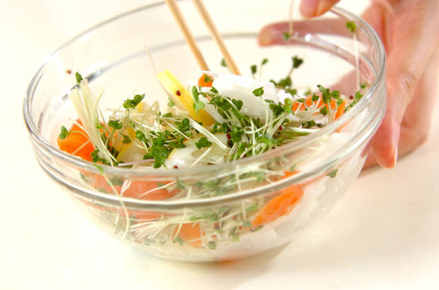 大根とサーモンのサラダの作り方の手順5