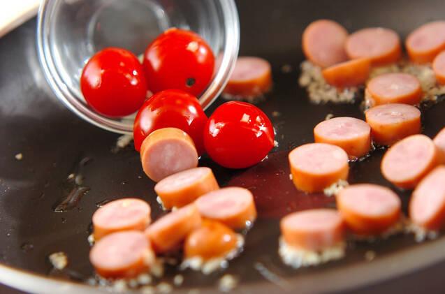 レタスのペペロンチーノ炒めの作り方の手順4