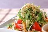 シャキシャキ水菜サラダ