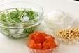 シャキシャキ水菜サラダの下準備5