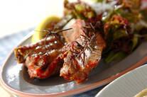 豚骨付きバラ肉のペッパー焼き
