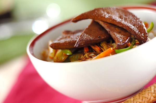 レバーの生姜焼き丼