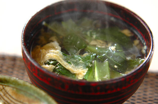 小松菜のかきたま汁