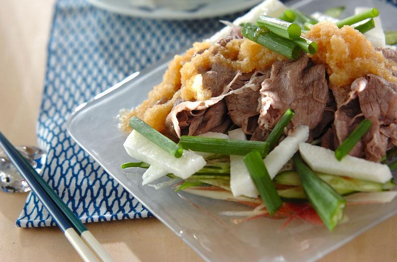 2. 牛肉の冷しゃぶ サラダ仕立て