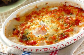卵のクリーミーグラタン