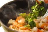エビとブロッコリーの塩炒めの作り方7