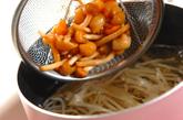 モヤシとナメコのみそ汁の作り方1
