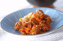 砂肝のキムチ炒め