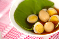ウズラの卵のショウガ煮