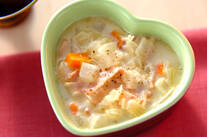ベーコンの白いスープ